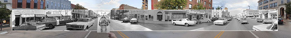 Panoramas of Lawrence from 1970 and 2012